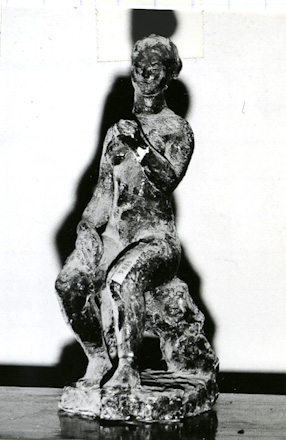 Nude with an apple, 1948
