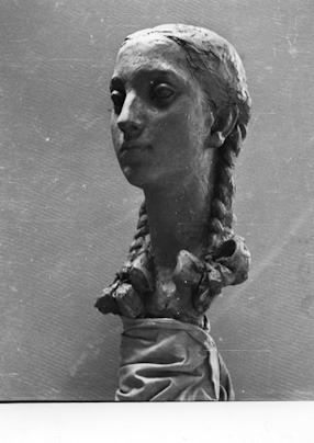 Girl with a plait ( portrait of Marysia Górna), 1952