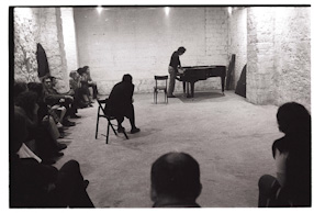 Galerie 11 - Giuseppe Chiari\\\'s concert and a meeting in a Cafe