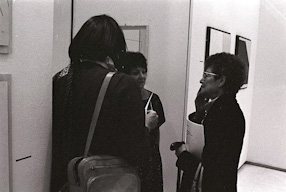 Vernissage of the exhibition at the Galerie Denise René, 1982