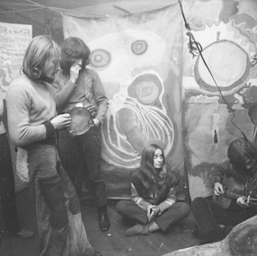 Visit at the Hippies commune in Ozarow, 1968