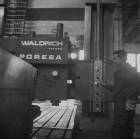 Machine tool factory in Poręba, 1970