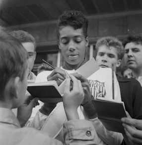 Visit of athletes from U.S. in Poland, 1961