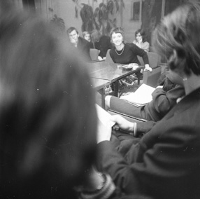 Art critics and artists discussion, 1970