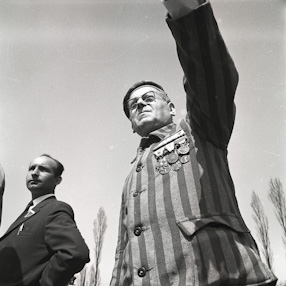 Unveiling of the Monument to the Victims of Fascism in Auschwitz, 1968