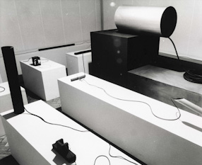 Edward Krasiński\'s exhibition at the Foksal Gallery, 1968
