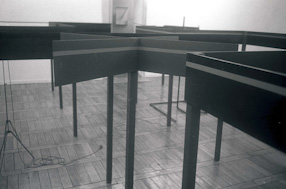 Edward Krasiński\'s exhibition at the Foksal Gallery, 1987