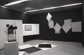 Henryk Stażewski\'s exhibition at the Foksal Gallery, 1967