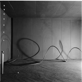 Edward Krasiński\'s exhibition at the Foksal Gallery, 1966