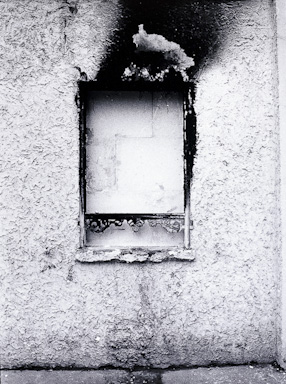 Burnt window, Paris 1984