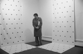 Niele Toroni exhibition at the Yvon Lamberts Gallery, 1975
