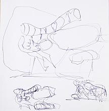 Drawing, from the series Study of the Journey, 1967