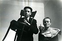 Miron Białoszewski and Ludmiła Murawska in Songs for Chair and Voice, Osobny Theatre, 1958