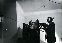 Miron Białószewski and Ludmiła Murawska in Songs for Chair and Voice, Osobny Theatre, 1958