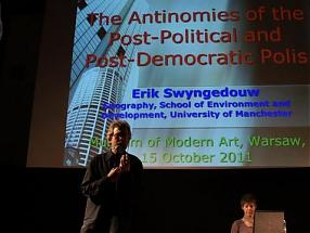 WWB TV. The Antinomies of the Post-Political and Post-Democratic City Lecture by Erik Swyngedouw