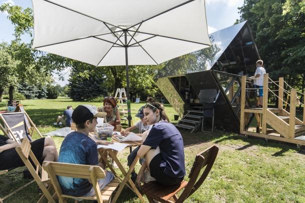 Piknik na Bródnie na koniec lata
