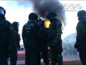 Blockades and riots against neo-nazi-demonstration in Magdeburg