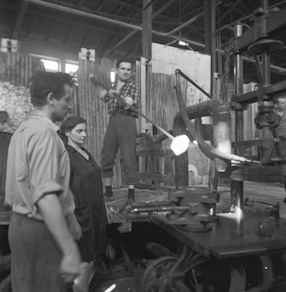 Glass factory, 1968