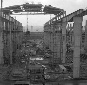 Dry dock in Gdynia, 1962/63