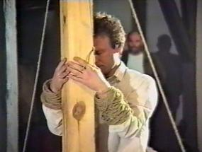 Janusz Bałdyga Performance within the Art Hotel Project, 1990
