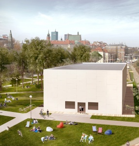From Emilia to the Vistula river bank the Museum of Modern Art in Warsaw will build a temporary exhibition pavilion near the Copernicus Science Center