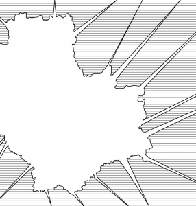 (map contour of Warsaw)