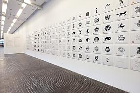 View of the Second Polish Exhibition of Graphic Symbols in the Museum of Modern Art in Warsaw