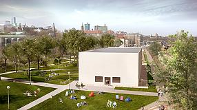 Visualization of scale and localisation of the Museum by the Vistula river